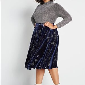 ModCloth x Collectif Let Sparks Fly Midi Skirt